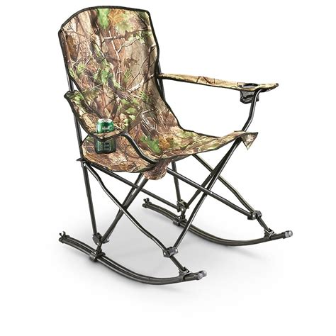 stansport team realtree 174 folding rocking chair 178647 chairs at sportsman s guide