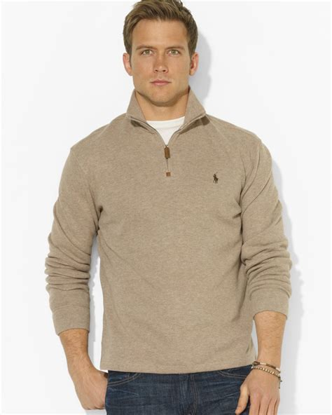 ralph polo sweaters ralph polo frenchrib halfzip mockneck pullover