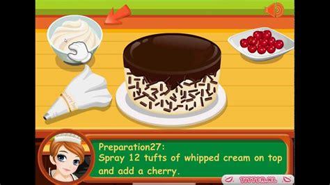 nouveau jeux de cuisine tessa fait une kirschtorte jeux gratuits de cuisine