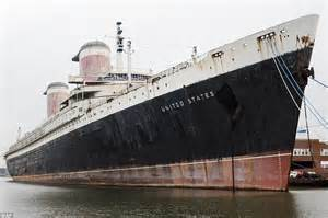 Old Boat In Philadelphia by Ss United States Built For Stars Like Marlon Brando And