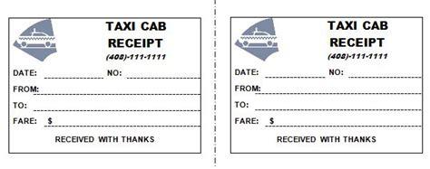 taxi receipt template   receipt template receipt