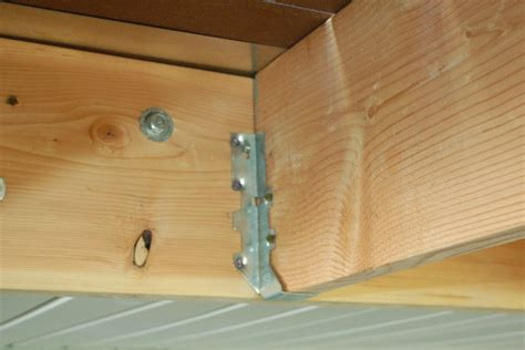 deck joist hangers hardware help with strenght of this western cedar table