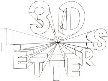 how to draw 3d letters polyvore how to draw 3d letters one point perspective lettering 67171