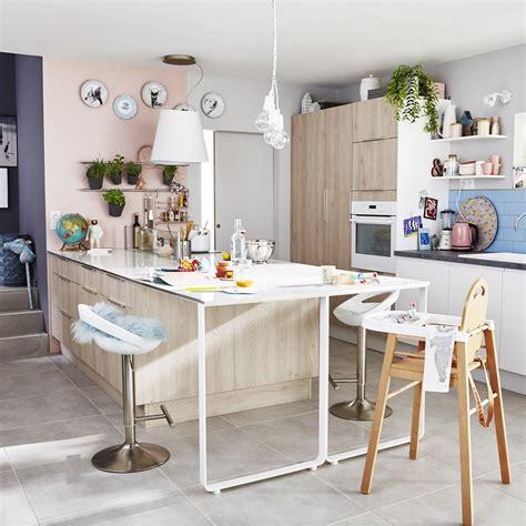 d馗or de cuisine meuble de cuisine décor bois delinia nordik leroy merlin
