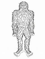 Coloring Bigfoot Foot Pages Template Sasquatch Templates Popular Coloringhome sketch template