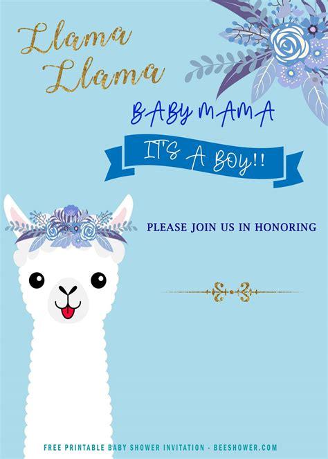 printable llama invitation templates