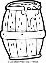 Beer Barrel Cartoon Vector Clipart Clip Line Drawings Drawing Canstockphoto sketch template
