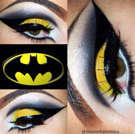 batman inspired makeup   pinterest makeup