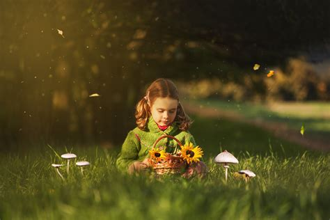 children  flowers wallpapers high quality