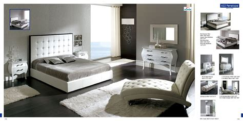 Bedroom Decor With Furniture by Bedroom Furniture Modern Bedrooms 622 Penelope White M95