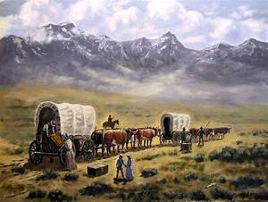 Paintings (Originals) For Sale The Oregon Trail ArtsyHome