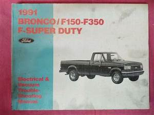 1991 Ford F150   Bronco Factory    Dealer Electrical