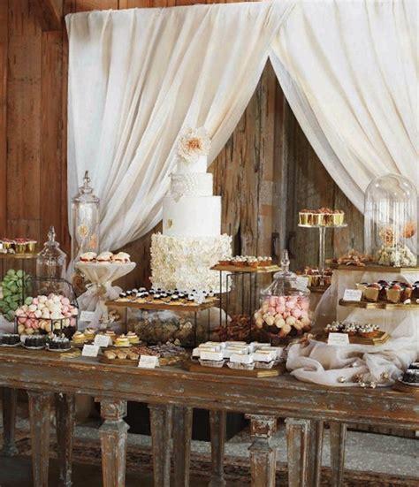 shabby chic wedding venues shabby chic wedding reception vintage shabby chic wedding dessert bar cake treats 1 wedding