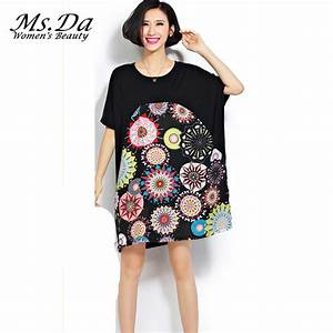 2015 new summer dress vintage pattern printed tshirt With robe t shirt femme