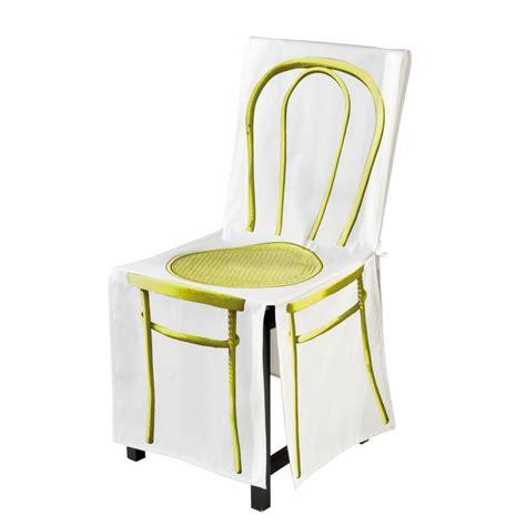 eurodif housse de chaise lot de 4 housses de chaise brod e abecedaire achat