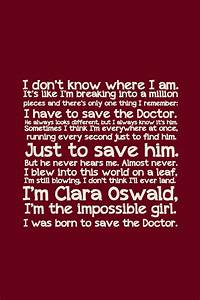 I'm Clara O... Doctor Girlfriend Quotes