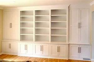 Custom Shaker/ Contemporary Built-In Wall Storage System