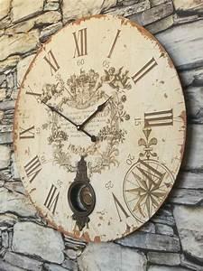Extra, Large, Antique, French, Vintage, Style, Wall, Clock, U2013, Amazing, Grace, Interiors