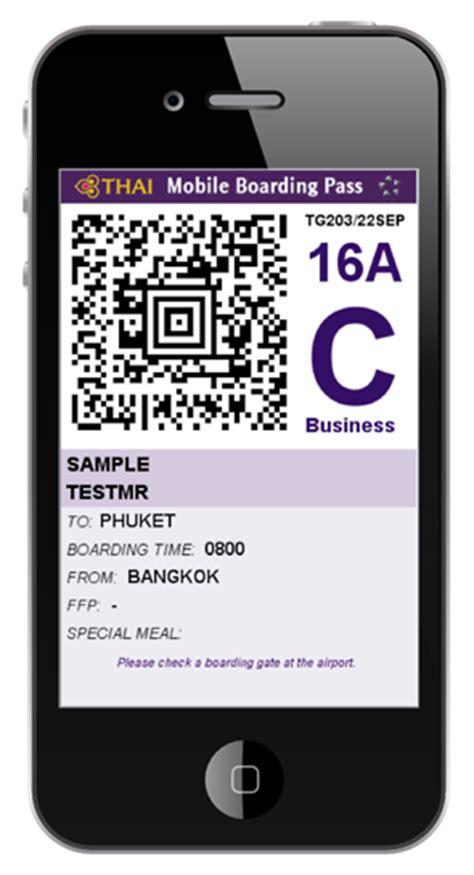 how to get boarding pass on phone mobile check in check in thai airways