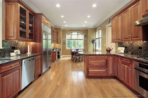 best flooring in kitchen traditional medium wood cherry kitchen cabinets 94 4452