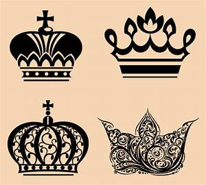Simple King And Queen Crown Tattoos