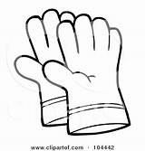 Gloves Coloring Clipart Glove Outline Hand Pair Pages Gardening Boxing Illustration Leather Royalty Gloved Hands Toon Hit Hitting Rf Printable sketch template