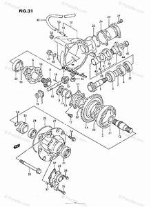 Suzuki Atv 1994 Oem Parts Diagram For Differential Gear