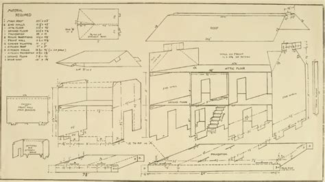 doll house plan   country doll house