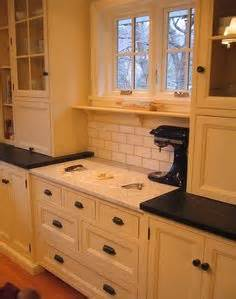 kitchen tiles for backsplash micro appliance garage hides the microwave and small 6300