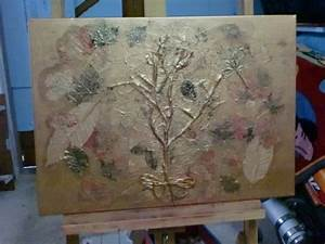 Tableau En Relief : tableau en relief de 50cm sur 70cm en acrylique dor e et ~ Melissatoandfro.com Idées de Décoration