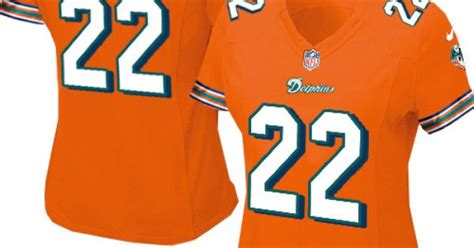 Womens Nike Miami Dolphins #22 Reggie Bush Elite Alternate
