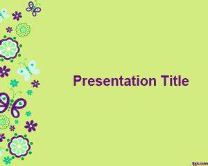 Butterflies PowerPoint Background PPT Template