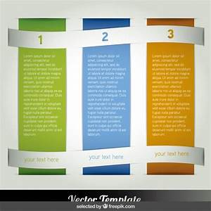 three columns infographic vector free download With 3 column brochure template