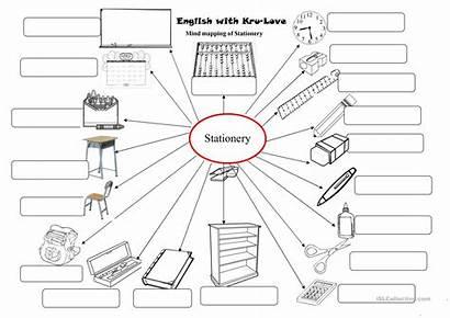 Stationary Coloring Classroom Worksheets Worksheet Esl Activities