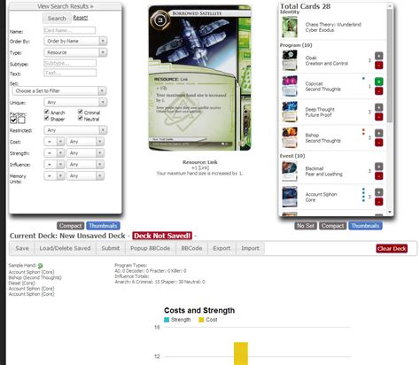 new android netrunner deckbuilder now live android