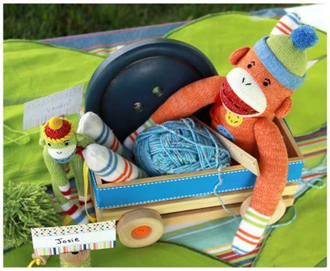 sew cute sock monkey party project nursery