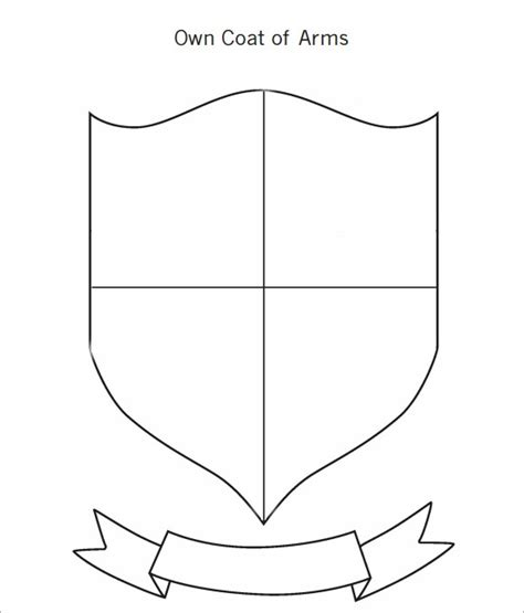 sample coat  arms templates   psd eps