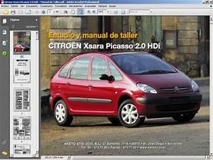 Citroen Xsara Picasso 2 0 Hdi Manual De Taller