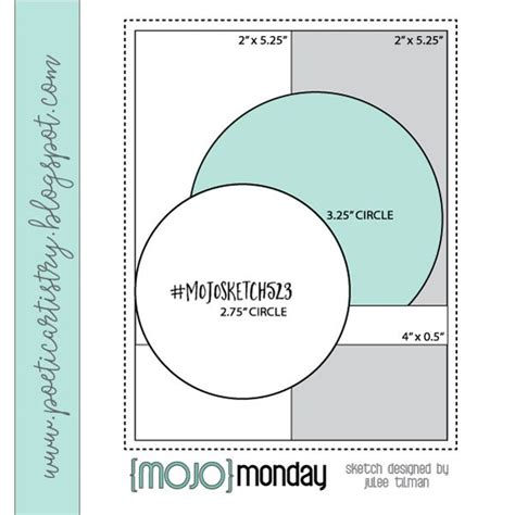 mojo monday  card sketches templates card sketches