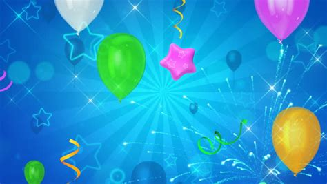 stock video  balloons  stars  beautiful happy