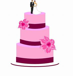 Wedding Cake With Bride And Groom Clip Art at Clker.com ...