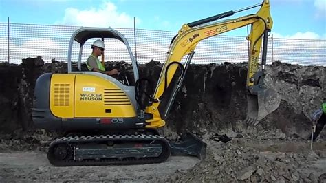 wacker neuson  excavator youtube