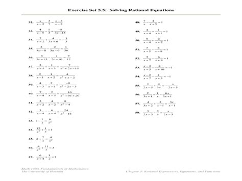 Solving Rational Equations Worksheet Algebra 2 Answers  Dearing Amanda Math Teacher Algebra 2