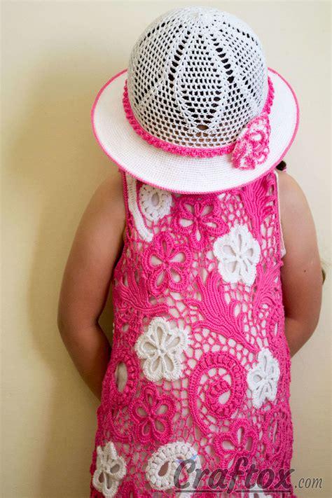 crochet white hat    year  girl  pattern