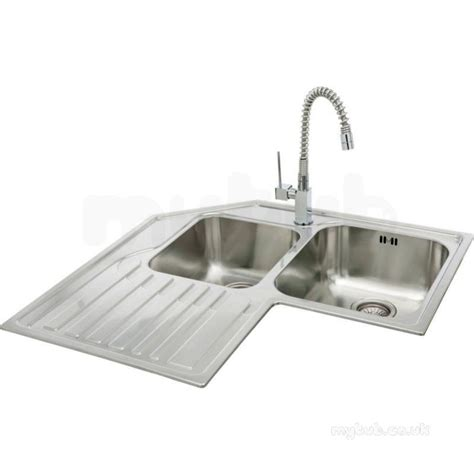 stainless steel corner sink lavella corner kitchen sink with left hand double bowl and
