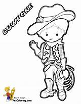 Cowboy Coloring Pages Ride Yescoloring Western Cowboys Em Rodeo Horse Boots Cool Wear Printables Riders sketch template