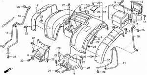 Honda Atv 2000 Oem Parts Diagram For Rear Fender
