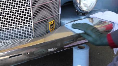 chrome polish  vintage mercedes benz