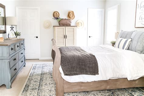Blue Cottage Style Guest Bedroom Makeover Reveal Bless