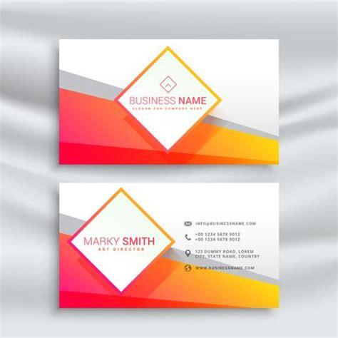 orange  white business card design